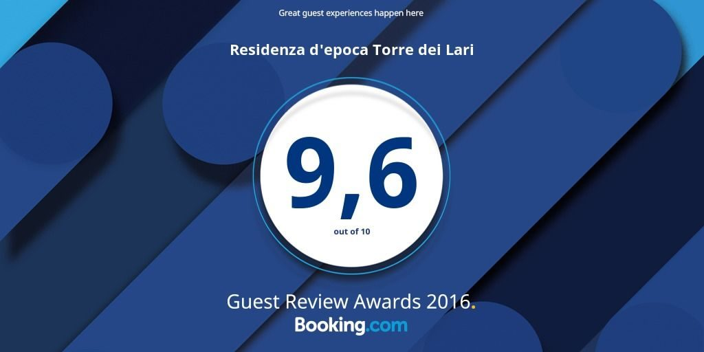 Great guest experiences happen here. Residenza d'epoca Torre dei Lari: 9,6 out of 10. Guest Review Awards 2016. Booking.com